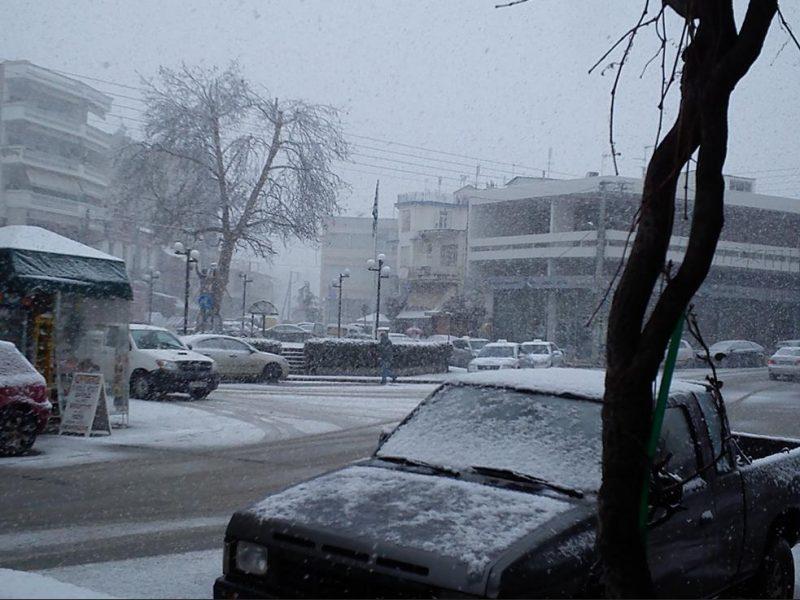 χιονόπτωση στη Νιγρίτα